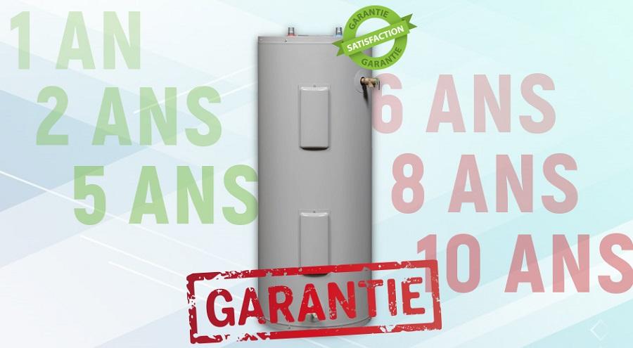 meilleures garanties chauffe-eau